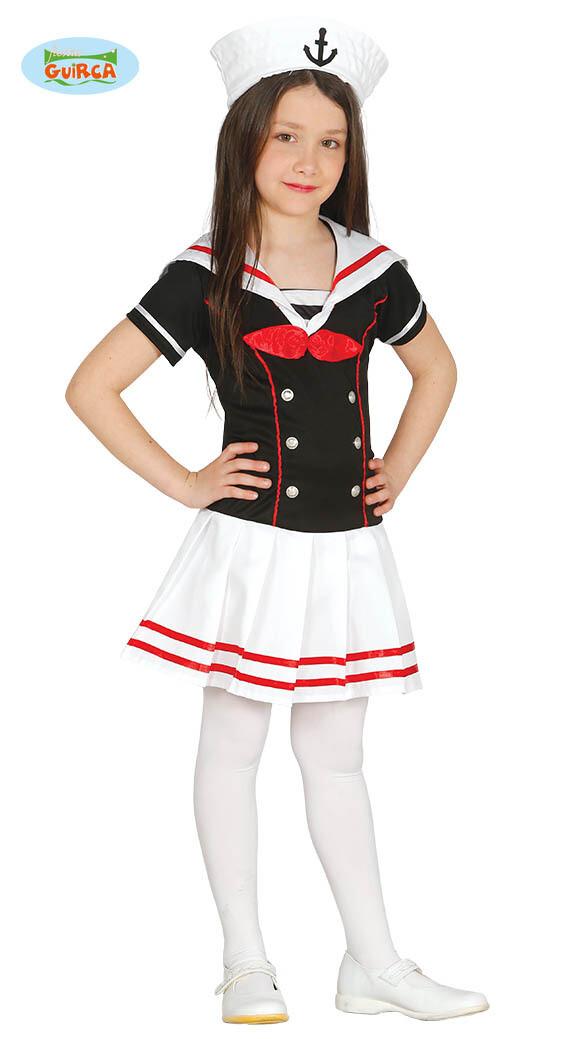 Marine meisje kostuum kind verkleedkledij De Zee Navy maat 152 voor 10 tot 12 jaar