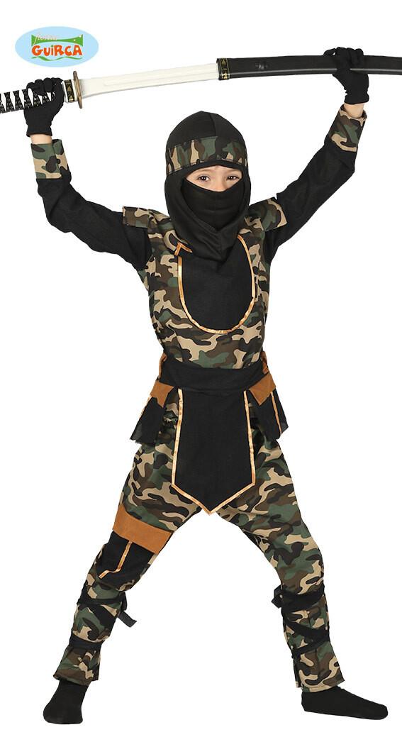 Ninja Commando kostuum kind verkleedkledij leger superheld voor 10 tot 12 jaar Maat 152