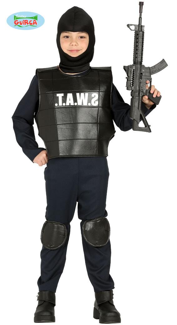 S.W.A.T. kostuum kind verkleedkledij politie voor 10 tot 12 jaar Maat 152