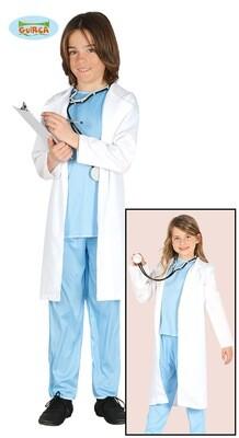 Dokter kostuum kind verkleedkledij chirurg voor 10 tot 12 jaar Maat 152