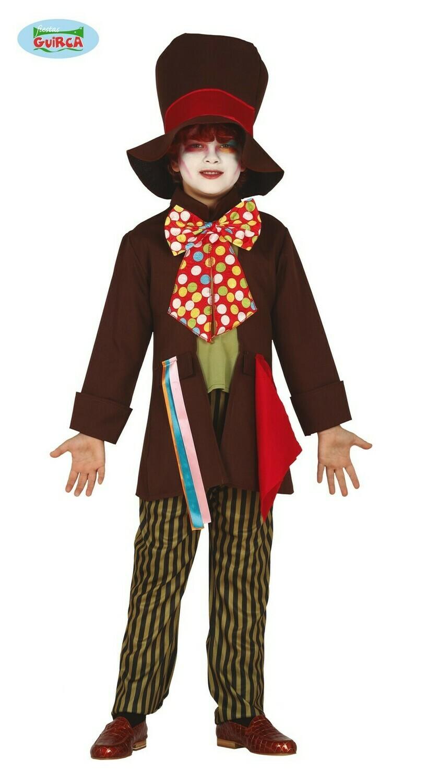 Mad Hatter kostuum kind Disney de gekke hoedenmaker voor 10 tot 12 jaar Maat 152