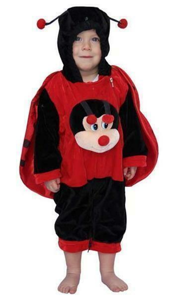 Onze Lieve Heersbeestje kostuum baby verkleedkledij O.L.H.- beestje dieren Pimpampoentje