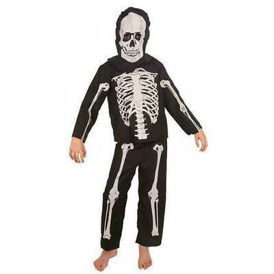 Geraamte skelet kostuum kind verkleedkledij Halloween Verkleeddpak Pietje de dood