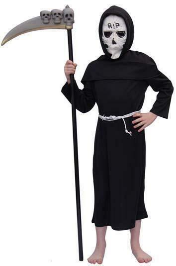 Pietje de Dood kostuum kind verkeedkledij Halloween verkleedpak griezel