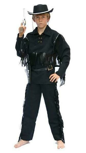 Cowboy zwart kostuum kind verkleedkledij Country and Western verkleedpak