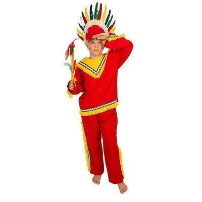 Indiaan rood kostuum kind verkleedkledij Country&Western verkleedpak Indianen