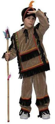 Indiaan bruin kostuum kind verkleedkledij Country&Western verkleedpak Indianen