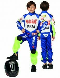 Racer kostuum kind verkleedkledij Autorace of Motorace verkleedpak MET HELM