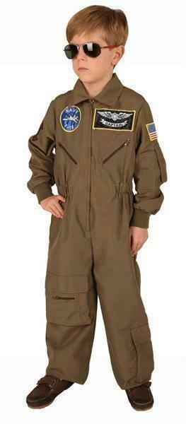 Top gun Legerpak kostuum kind verkleedkledij vecht piloot Army verkleedpak Leger