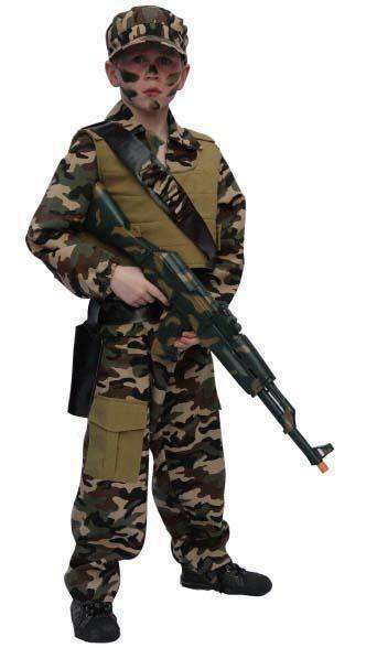 Leger kostuum kind verkleedkledij Commando pak verkleedpak Army soldaat