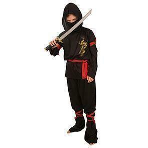 Ninja kostuum kind verkleedkledij vechter vechtsport verkleedpak