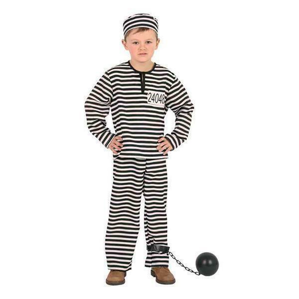 Boef kostuum kind verkleedkledij gevangene verkleedpak gevangenis boevenpak