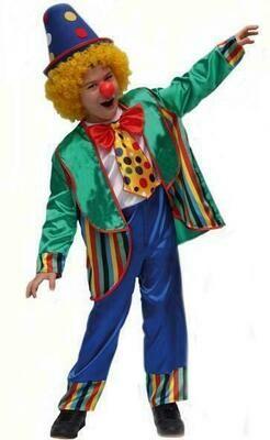Clown kostuum kind verkleedkledij clownskostuum verkleedpak Carnaval Maat 116
