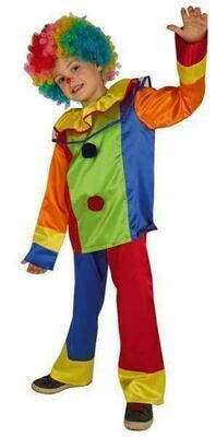 Clown kostuum kind verkleedkledij tweedelig clownskostuum verkleedpak Carnaval
