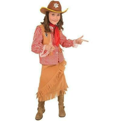 Cowgirl kostuum kind verkleedkledij cowboymeisje verkleedpak Country & Western