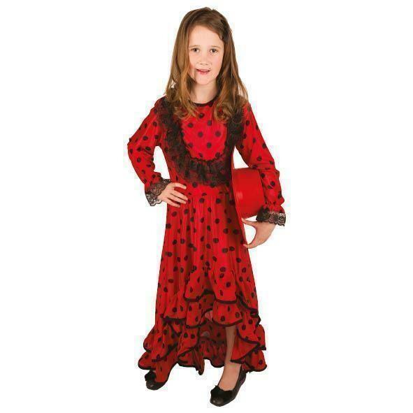 Spaans kleedje kostuum kind verkleedkledij Spanje verkleedpak Senorita