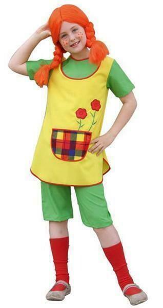 Pipi Langkous kostuum kind verkleedkledij bekende figuren verkleedpak Pipi