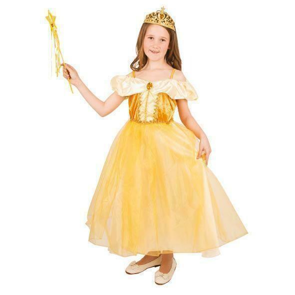 Belle kostuum kind verkleedkledij Prinses geel verkleedpak