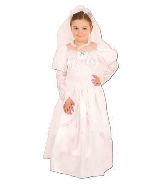 Bruid wit kostuum kind verkleedkledij verkleedpak Prinses