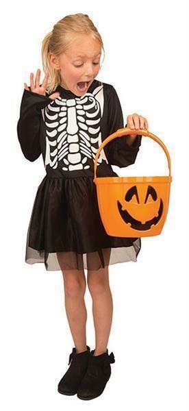 Skeletkleedje kostuum kind Halloween verkleedkledij verkleedpak geraamte meisjes
