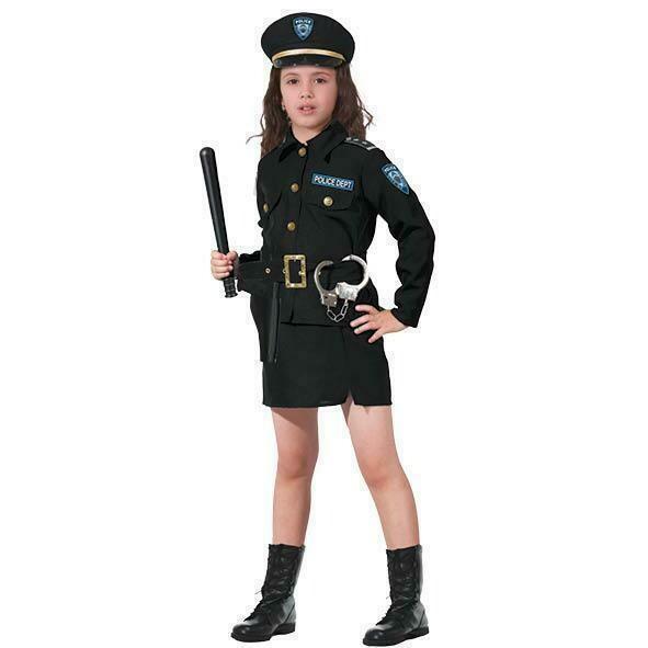 Politie meisje kostuum kind verkleedkledij Agente verkleedpak
