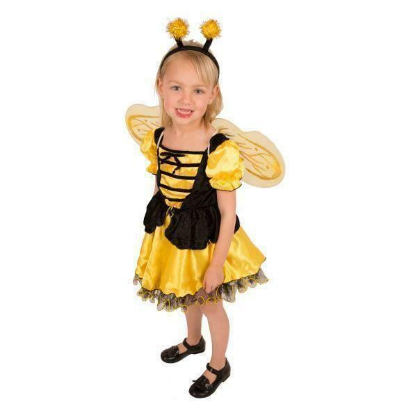 Bijenkleedje kind verkleedkledij Bijtje meisje verkleedpak dieren