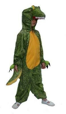 Onesie Krokodil kind verkleedkledij dieren verkleedpak Draak monster groen