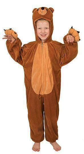 Onesie Beer kostuum kind verkleedkledij dieren verkleedpak Bruintje de beer