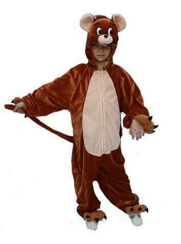 Onesie Muis kind verkleedkledij muizen dieren verkleedpak Tom&Jerry