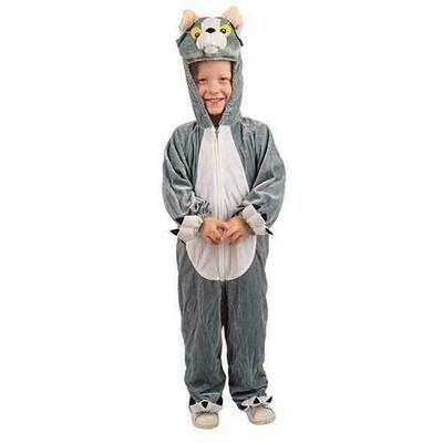 Onesie Kat kind verkleedkledij poes dieren verkleedpak Tom&Jerry
