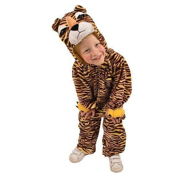 Onesie Tijger kind verkleedkledij wilde dieren verkleedpak jungle tijgerpak