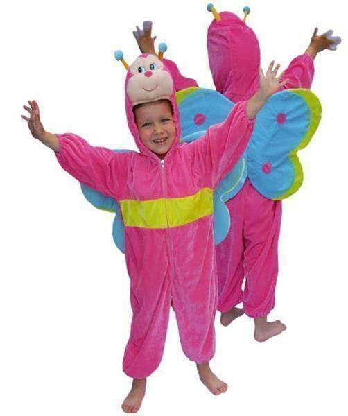 Onesie Vlinder kind verkleedkledij roze dieren verkleedpak Butterfly