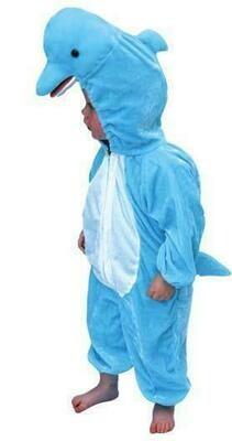 Onesie Dolfijn kind verkleedkledij water dieren de zee verkleedpak Flipper