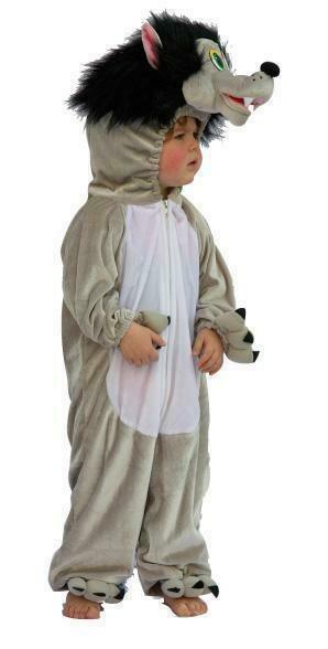 Onesie Wolf kind verkleedkledij wilde dieren verkleedpak sprookjes wolvenpak