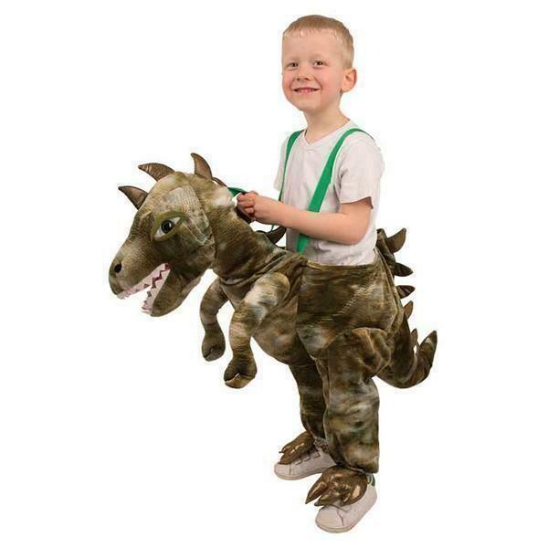 Dinosaurus pak instap kostuum kind wilde dieren Jump-in  verkleedpak dino van 3 tot 8 jaar