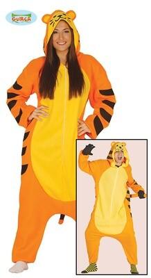 Teigetje verkleedpak volwassenen tijger Onesie Wilde dieren