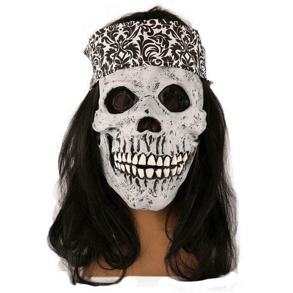 Masker doodshoofd piraat  geraamte rubber latex Halloween