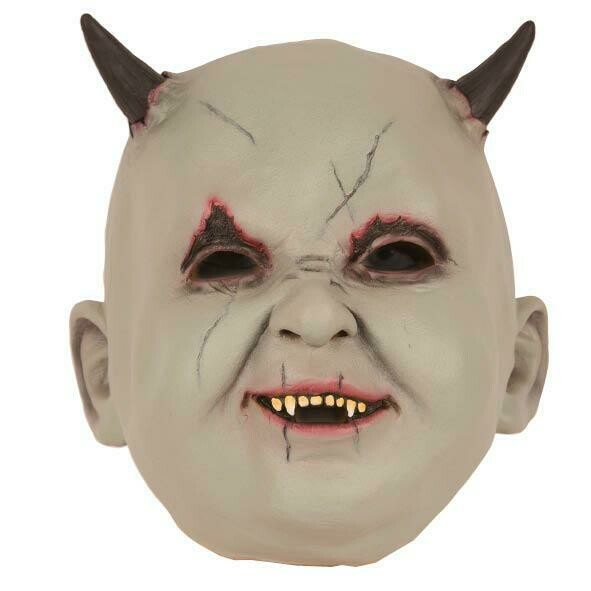 Masker Baby duivel  rubber latex Halloween Duivelsbaby