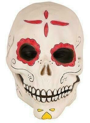 Masker Dias de los Muertos rubber latex Halloween