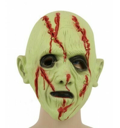 Masker Zombie LICHTGEVEND IN HET DONKER Griezel creep rubber latex Halloween