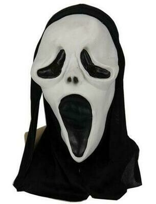 Masker Scream rubber latex Halloween