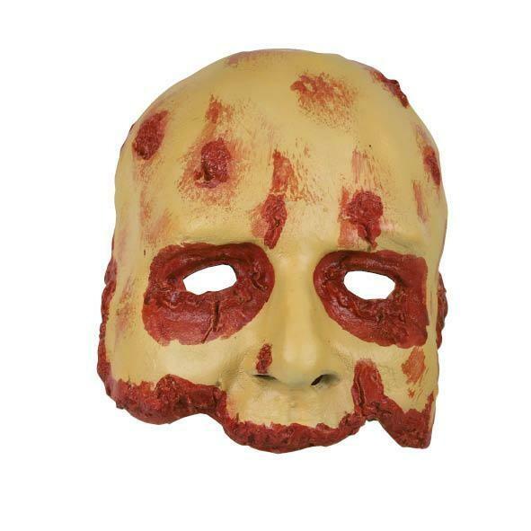 Masker bebloed gezicht bloody face rubber latex Halloween