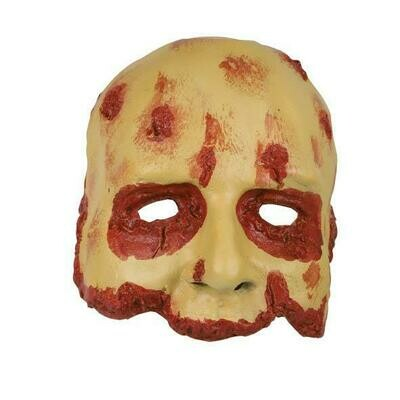 Masker bebloed gezicht bloody face rubber latex Halloween