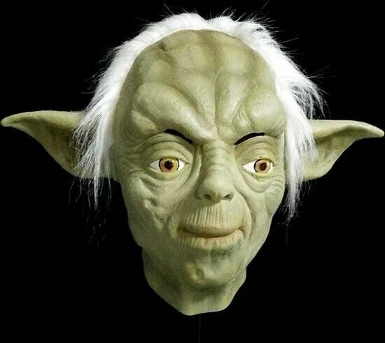 Masker Yoda Star Wars rubber latex Halloween LAATSTE STUK !