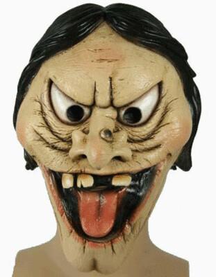Masker heks drietand rubber latex Halloween