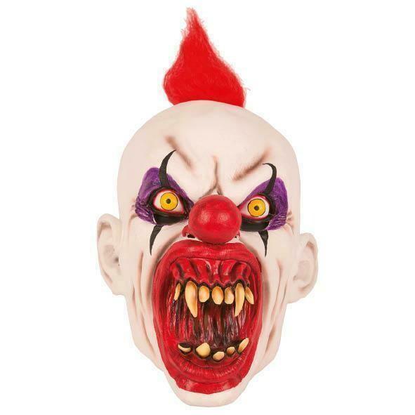 Masker Clown creep scary duivelsclown rubber latex Halloween