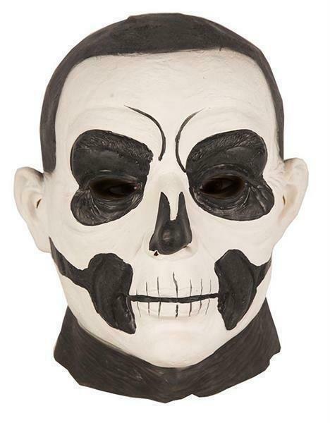 Masker Skelet zwart en wit rubber latex Halloween