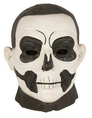 Masker Skelet zwart en wit rubber latex Halloween