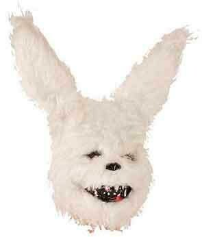 Masker horror konijn wit hard masker Halloween creepy rabbit