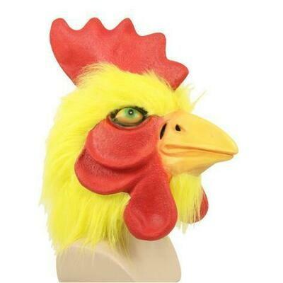 Masker kip in rubber dieren boerderij